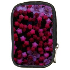 Floral Stars  Purple Compact Camera Leather Case
