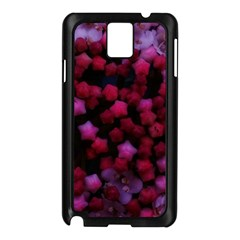 Floral Stars  Purple Samsung Galaxy Note 3 N9005 Case (black)