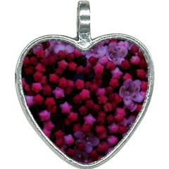 Floral Stars  Purple Heart Necklace