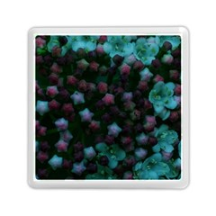 Floral Stars  Blue Memory Card Reader (square) by okhismakingart