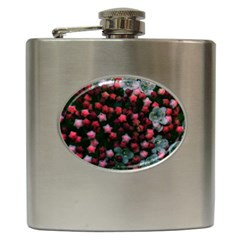 Floral Stars -bright Hip Flask (6 Oz) by okhismakingart