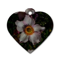 Light Purple Blossoms Dog Tag Heart (two Sides)
