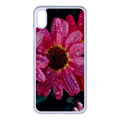 Three Dripping Flowers Iphone Xs Max Seamless Case (white) by okhismakingart