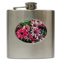 Pink Asters Hip Flask (6 Oz)