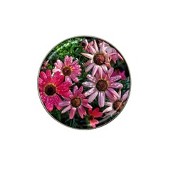Pink Asters Hat Clip Ball Marker