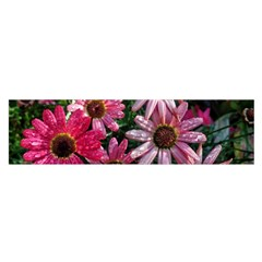 Pink Asters Satin Scarf (oblong)