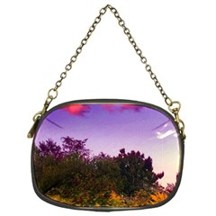 Purple Afternoon Chain Purse (one Side)