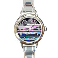 Static Wall Queen Anne s Lace Version Ii Round Italian Charm Watch