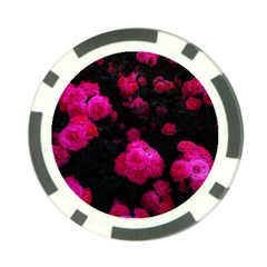 Bunches Of Roses Poker Chip Card Guard