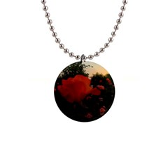 Rose Landscape 1  Button Necklace