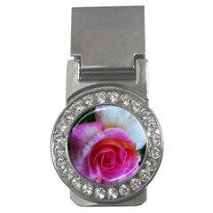 Spiral Rose Money Clips (cz)