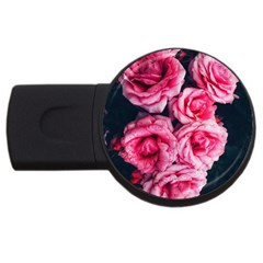 Pink Roses Ii Usb Flash Drive Round (4 Gb)