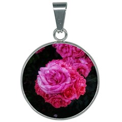 Bunches Of Roses (close Up) 25mm Round Necklace