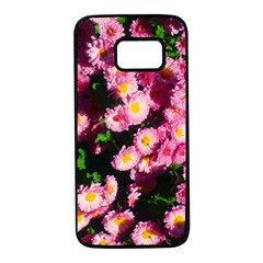 Pink Flower Bushes Samsung Galaxy S7 Black Seamless Case