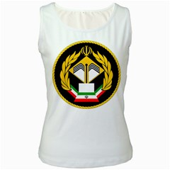 Iranian Army Badge Of Associate Degree Conscript Women s White Tank Top by abbeyz71
