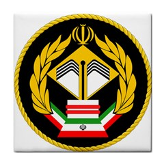 Iranian Army Badge Of Bachelor s Degree Degree Conscript Tile Coasters by abbeyz71