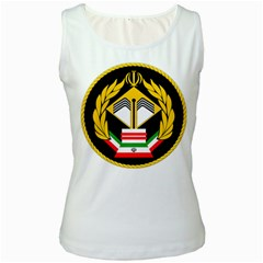 Iranian Army Badge Of Bachelor s Degree Degree Conscript Women s White Tank Top by abbeyz71