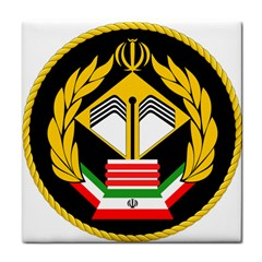 Iranian Army Badge Of Master s Degree Conscript Tile Coasters by abbeyz71