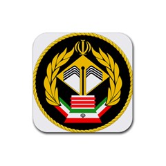 Iranian Army Badge Of Master s Degree Conscript Rubber Coaster (square)  by abbeyz71