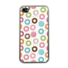 Donut Pattern With Funny Candies Iphone 4 Case (clear)