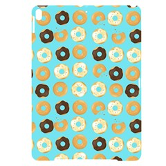 Donuts Pattern With Bites Bright Pastel Blue And Brown Apple Ipad Pro 10 5   Black Uv Print Case