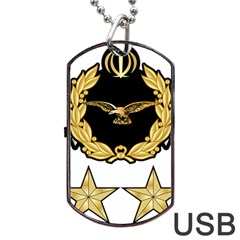 Iranian Army Aviation Pilot Second Class Wing Dog Tag Usb Flash (one Side)