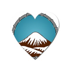Iranian Military Mountain Warfare Insignia Heart Magnet by abbeyz71