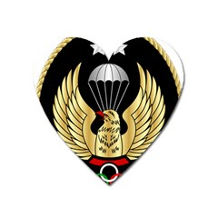 Iranian Army Freefall Parachutist 2nd Class Badge Heart Magnet by abbeyz71