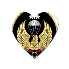 Iranian Army Freefall Parachutist 1st Class Badge Heart Magnet by abbeyz71