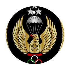 Iranian Army Freefall Parachutist 1st Class Badge Round Ornament (two Sides) by abbeyz71