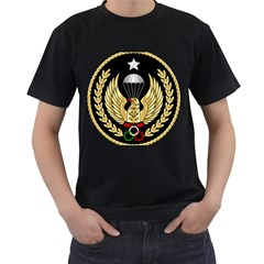 Iranian Army Freefall Parachutist Master 3rd Class Badge Men s T-shirt (black) (two Sided) by abbeyz71