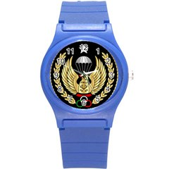 Iranian Army Freefall Parachutist Master 3rd Class Badge Round Plastic Sport Watch (s) by abbeyz71