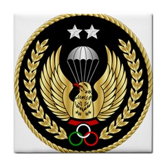Iranian Army Parachutist Freefall Master 2nd Class Badge Tile Coasters by abbeyz71