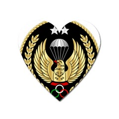 Iranian Army Parachutist Freefall Master 2nd Class Badge Heart Magnet by abbeyz71
