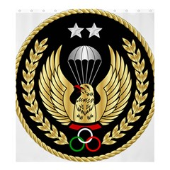 Iranian Army Parachutist Freefall Master 2nd Class Badge Shower Curtain 66  X 72  (large)  by abbeyz71