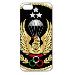 Iranian Army Freefall Parachutist Master 1st Class Badge Apple Seamless Iphone 5 Case (clear) by abbeyz71