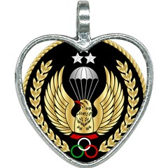 Iranian Army Freefall Parachutist Master 1st Class Badge Heart Necklace by abbeyz71