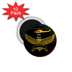 Iranian Army Aviation Bell 214 Helicopter Pilot Chest Badge 1 75  Magnets (10 Pack)  by abbeyz71