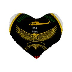 Iranian Army Aviation Bell 214 Helicopter Pilot Chest Badge Standard 16  Premium Flano Heart Shape Cushions by abbeyz71