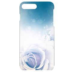 Beautiful Floral Design In Soft Blue Colors Iphone 7/8 Plus Black Uv Print Case by FantasyWorld7