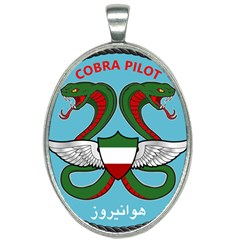 Iranian Army Aviation Cobra Helicopter Pilot Chest Badge Oval Necklace by abbeyz71