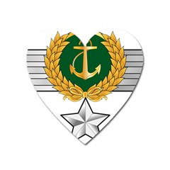 Iranian Navy Amphibious Warfare Badge Heart Magnet by abbeyz71