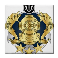 Iranian Navy Special Diver First Class Badge Tile Coasters by abbeyz71