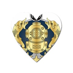 Iranian Navy Special Diver First Class Badge Heart Magnet by abbeyz71