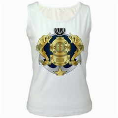 Iranian Navy Special Diver Third Class Badge Women s White Tank Top by abbeyz71