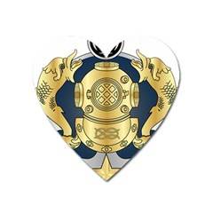 Iranian Navy Special Diver Third Class Badge Heart Magnet by abbeyz71