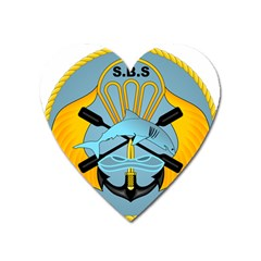 Iranian Navy Special Boat Service Badge Heart Magnet by abbeyz71