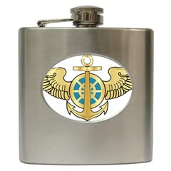 Iranian Navy Aviation Pilot Badge Hip Flask (6 Oz) by abbeyz71