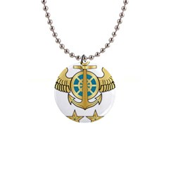 Iranian Navy Aviation Pilot Badge 2nd Class 1  Button Necklace by abbeyz71