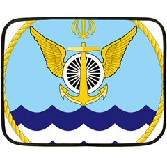 Official Insignia Of Iranian Navy Aviation Double Sided Fleece Blanket (mini)  by abbeyz71